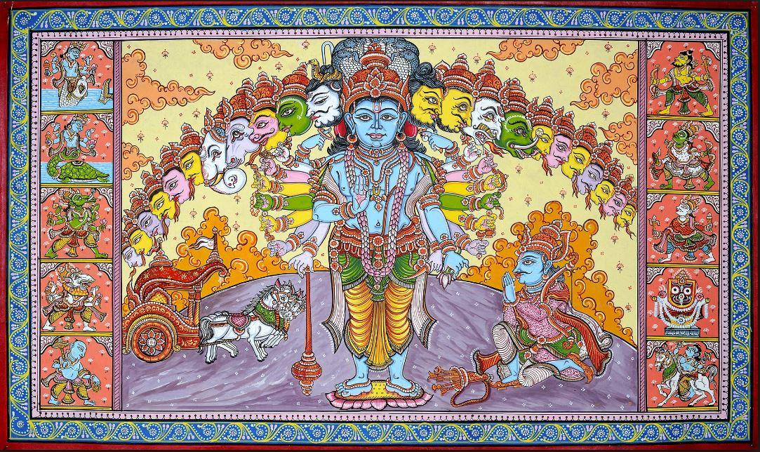 Hindu Istenek, az isteni univerzális forma Ardzsuna előtt