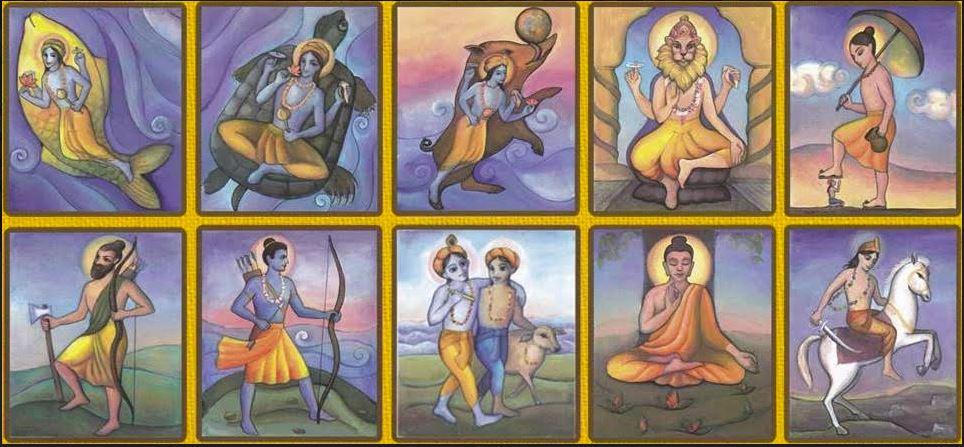 Dashavatar: tíz vavatár freskó hindu templom Nandafalva