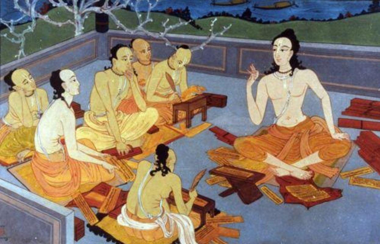 Chaitanya Maháprabhu tanítványai körében
